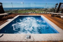 3 bedroom villa with private jacuzzi and communal pool in Chloraka.